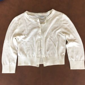 White Old Navy Cardigan